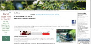 Home page of the Canal Boat Trader website