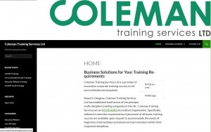Home page from Coleman Training Services website