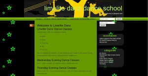 Home page of Limelite Danz website