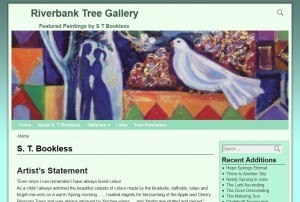 Home page of S T Bookless' website Riverbank Tree Gallery